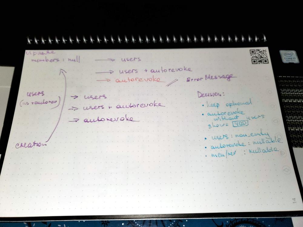 Brainstorming in Rocketbook